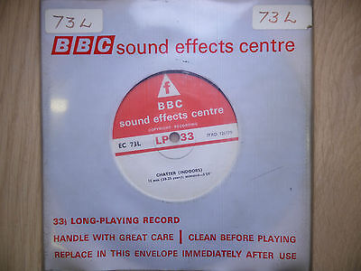 """BBC Sound Effects 7"""" Record - Chatter Indoors, 12 Men & 6 Men + Women"""