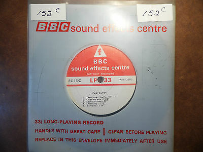 "BBC Sound Effects 7"" Record - Carpentry, Various, TV Memorabilia, Collectable"