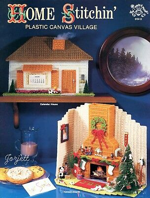 Home Stitchin' Christmas Village & More plastic canvas pattern booklet