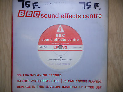 "BBC Sound Effects 7"" Record - Fire, Plymouth 1941, Heavy Crackling, (Brigade)"