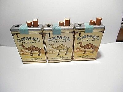 3 Camel Hard Soft Pack Collectible Disposable Cigarette Lighters Pack Lite