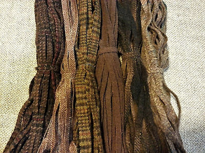 CHOCOLATES MIX 150 Hand and Mill dyed  #8 Rug Hooking Wool Strips