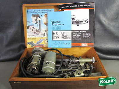 UNiMAT DB 200 AMERICAN EDELSTAAL WATCHMAKER LATHE & DRILL CONVERSION KIT TESTED