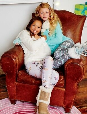 Justice Girl's Cozy Print-Perfect BUNNY Full Length Leggings Size 14 NWT