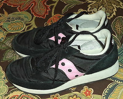 Womens Leather & Fabric Saucony Black w/ Pink Athletic Shoes Size 6.5