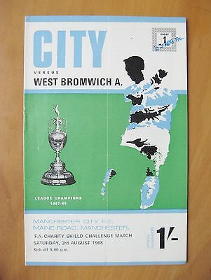MANCHESTER CITY v WEST BROMWICH ALBION Charity Shield 1968 *VG Cond Programme*