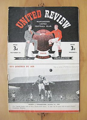 MANCHESTER UNITED v CHARLTON ATHLETIC 1949/1950 *Good Cond Football Programme*