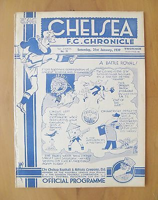 CHELSEA v FULHAM FA Cup 1938/1939 *Excellent Condition Football Programme*