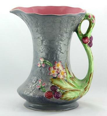 JAMES KENT ENGLAND ~ BRAMBLE PATTERN ~ RELIEF MOULD ~ HAND PAINTED JUG ca 1930