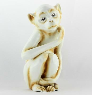 "A.v. Wahl Germany ~ Porcelain Glazed Figurine ~ Monkey / Ape ~ Incised ""k"" Mark"