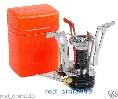 CA Mini Backpacking Canister Camp Camping Stove Burner outdoor cooking foldable