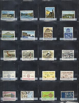 Iceland Stamps Used 20 Different: Lot-01