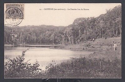 French Guyana 1903 Lac Du Rorota In Cayenne Postcard Unaddressed