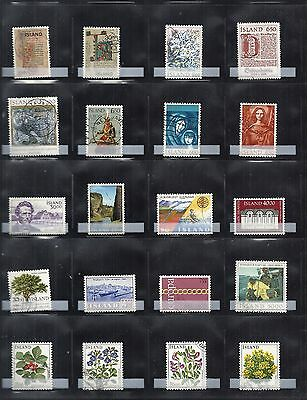 Iceland Stamps Used 20 Different: Lot-04