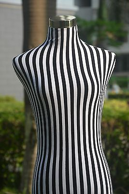 B&W Stripe Lace Top Material Cover for Female Mannequin Dress Form Model Dummy
