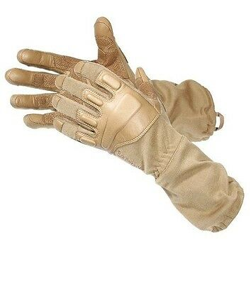 BLACKHAWK Coyote Tan FURY with NOMEX Large Assault Gloves -8093LGCT- New In Pkg