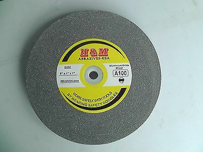 "New Aluminum Oxide GRINDING WHEEL 8""x1""x1"" 100 Grit Bench Grinder"