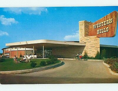 Unused 1950's WESTERN HILLS LODGE MOTEL Wagoner Oklahoma OK s1873
