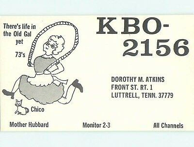 comic - QSL CB HAM RADIO CARD Luttrell Tennessee TN s0204
