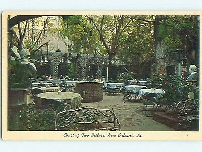 Pre-1980 COURT OF TWO SISTERS RESTAURANT New Orleans Louisiana LA s1404