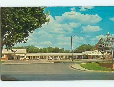 Unused Pre-1980 OLD CARS & COLONIAL MOTEL & RESTAURANT Hopkinsville KY s3566