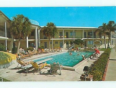 Unused Pre-1980 SHARLO MANOR MOTEL Clearwater Beach Florida FL s5187