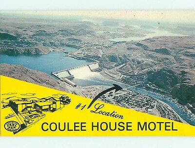 Unused 1980's COULEE HOUSE MOTEL Coulee Dam Washington WA s5099
