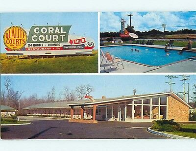 Unused Pre-1980 CORAL COURT RESTAURANT & MOTEL Rocky Mount NC s6720