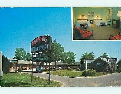 Unused Pre-1980 MATTHEWS MOTEL Wilson North Carolina NC s5014-22