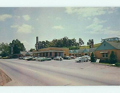 Unused Pre-1980 OLD CARS & NEWPORT COURT MOTEL & RESTAURANT Newport TN s6046