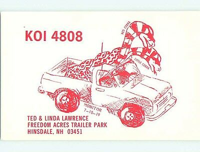comic - QSL HAM RADIO CARD Hinsdale New Hampshire NH t0926