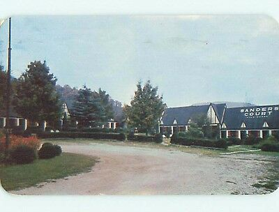 1951 Sanders Court Motel & Cafe Restaurant Asheville North Carolina NC s7139