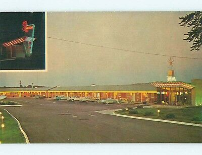 Pre-1980 OLD CARS & EXIT THREE MOTEL Wauseon Ohio OH s8294