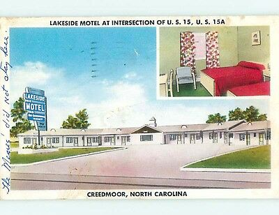 1950's LAKESIDE MOTEL Creedmoor North Carolina NC s7882