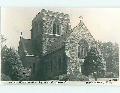 Old rppc EPISCOPAL CHURCH Bethlehem New Hampshire NH t2668