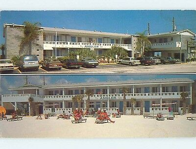 1987 Old Cars & Angler Aprtment Motel Clearwater Beach Florida FL s9816