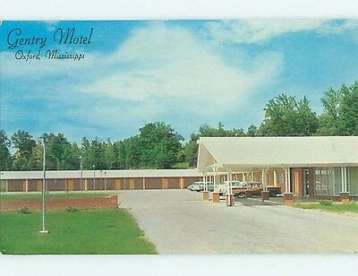 Unused Pre-1980 OLD CARS & GENTRY MOTEL Oxford Mississippi MS s9791