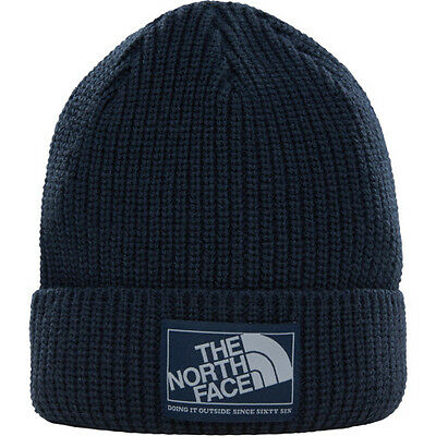 North Face Pepper Dog Mens Headwear Beanie Hat - Urban Navy One Size