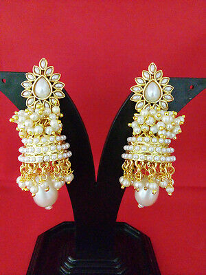 Indian Fashion Jewelry Earring Bollywood Ethnic  Gold Traditional Set
