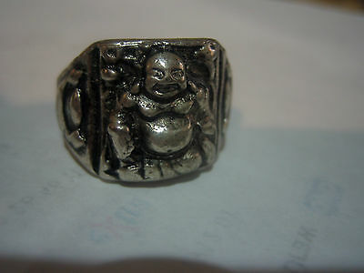 New!! Vintage Tibet Silver Buddha Ring, 9.75