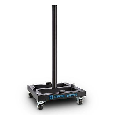 Capital Sports Fitness Bar Weight Plates Trolley Transporter Storage 300 Kg Max.
