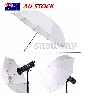 Photography Studio Lighting Diffuser Translucent Flash Umbrella Soft White 43''