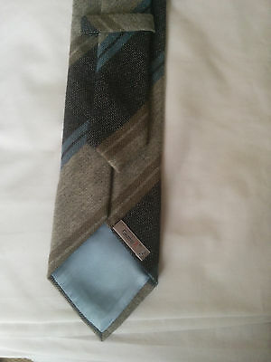 Gierre 100% cashmere grey and blue tie made in Italy
