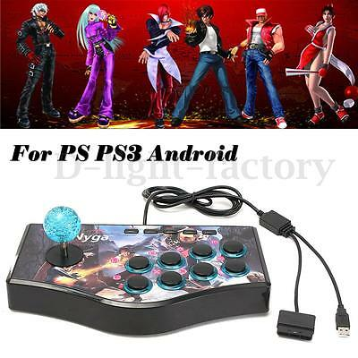 Fighting Stick Game Arcade Joystick Controller Gamepad For USB PC PS3 Android