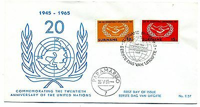 Suriname 1965 International Cooperation Year First day cover