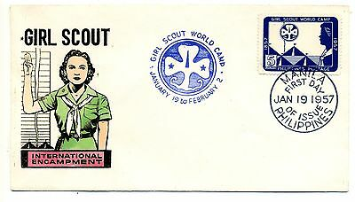 Philippines 1957 Girl Scout World Camp FDC
