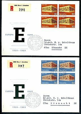 Switzerland 1969 Europa first day covers