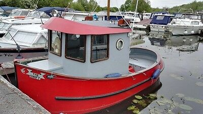 2013 Swift 17 Motor Boat. Designed on Tug Style. Unique Cruiser With NO RESERVE