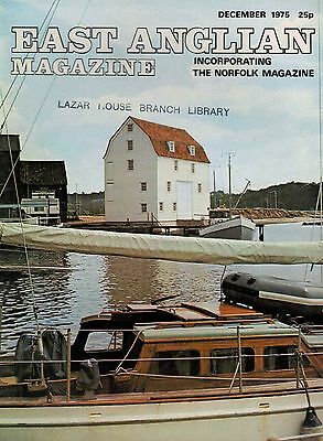 1975 DEC 52880  East Anglian Magazine Cover Picture  BILLINGFORD MILL NORFOLK