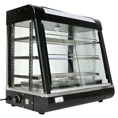 Commercial Food Pie Warmer Showcase Display Cabinet Warming w/Adjustable Shelves